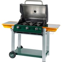 Outback Hunter 3-Burner Hybrid Gas and Charcoal BBQ - Green