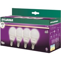 Sylvania LED E14 5W Ball - 4 Pack