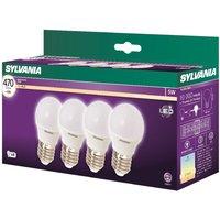 Sylvania LED E27 5W Ball - 4 Pack