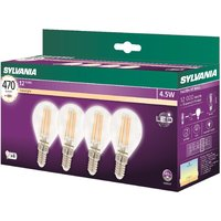 Sylvania LED 5.5W E14 Ball - 4 Pack
