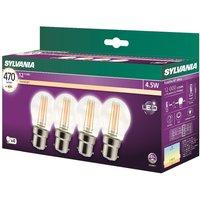 Sylvania LED 4.5W B22 Ball - 4 Pack