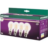 Sylvania LED 7W 470L B22 V Lamp - 4 Pack