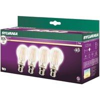 Sylvania LED 7W 806L B22 V Lamp - 4 Pack