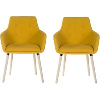 Teknik 4 Legged Soft Padded Office Chair 2 Pack - Yellow