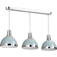 Premier Housewares Vermont Pendant Light 3 Shades - Blue/Chr
