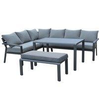 Maze Rattan Verona Corner Sofa Group - Grey