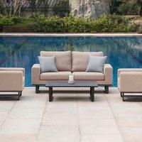 Maze Rattan Ethos 2 Seat Sofa Set  - Taupe