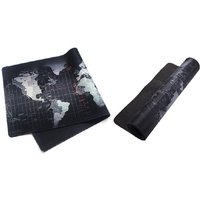 AQ Durable Extended World Map Mouse Mat Black