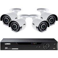 Lorex CCTV 8 Channel Analogue 4K Ultra HD 2TB DVR + 4 x 4K Ultra HD cameras