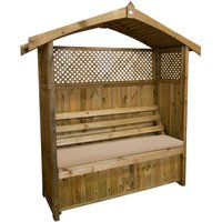 Zest4Leisure Zest Hampshire Arbour with Seat Pad - Stone