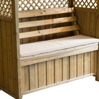 Zest4Leisure Zest Lincoln Arbour with Seat Pad - Stone