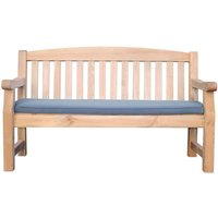 Zest4Leisure Emily 3-Seater Bench and Cushion - Grey