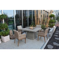 Elementi Birmingham Dining Table Fire Pit