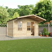 Mercia 34mm Double Glaze Retreat Log Cabin - 4m x 3m