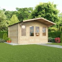 Mercia 44mm Double Glaze Haven Log Cabin - 4m x 4m