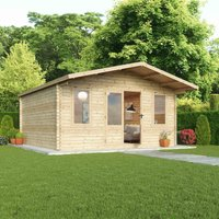 Mercia 44mm Double Glaze Haven Log Cabin - 5 x 5m