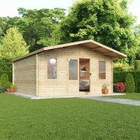 Mercia 34mm Single Glaze Haven Log Cabin - 5 x 5m