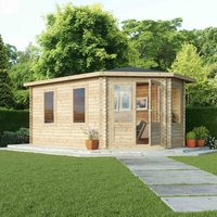 Mercia 44mm Double Glaze Right Sided Corner Lodge Grande - 5m x 3m