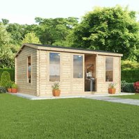 Mercia 34mm Double Glazed Home Office Director - 5m x 4m