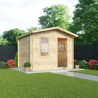 Mercia 28mm Single Glaze Escape Log Cabin - 3m x 2.4m