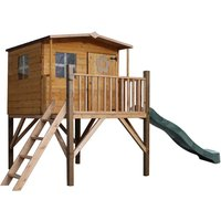 Mercia Rose Tower Playhouse with Slide