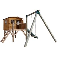 Mercia Rose Tower Playhouse with Slide and Activity Centre