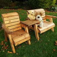 Charles Taylor Little Fellas Childrens Wooden Bench/Chair Combination Set - Straight