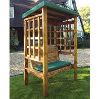Charles Taylor Bramham 2 Seater Wooden Arbour - Green