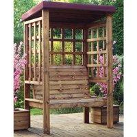 Charles Taylor Bramham 2 Seater Wooden Arbour - Burgundy