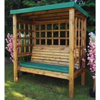 Charles Taylor Bramham 3 Seater Wooden Arbour - Green
