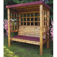 Charles Taylor Bramham 3 Seater Wooden Arbour - Burgundy