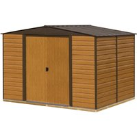 Rowlinson 10 x 8 Woodvale Metal Apex Shed With Floor
