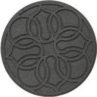 Garden Centra Reversible Stepping Stone, Medallion - Grey