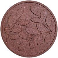 Garden Centra Reversible Stepping Stone, Leaves - Terracotta
