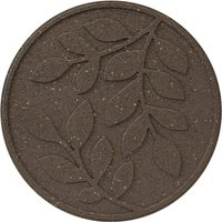 Garden Centra Reversible Stepping Stone, Leaves - Earth