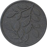 Garden Centra Reversible Stepping Stone, Leaves - Grey