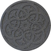 Garden Centra Reversible Stepping Stone, Scroll - Grey