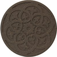 Garden Centra Reversible Stepping Stone, Scroll - Earth