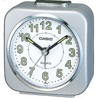 Casio Alarm Clock with Light and Snooze - Silver