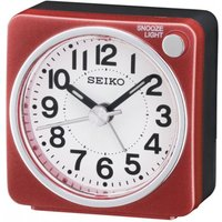 Seiko Bedside Alarm Clock - Red