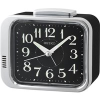 Seiko Bell Alarm Clock Black with Black Dial