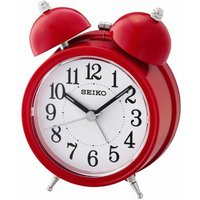 Seiko Bell Alarm Clock with Light and Snooze - Red
