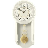 Seiko Westminster/Whittington Dual Chime Wall Clock with Pendulam - Cream