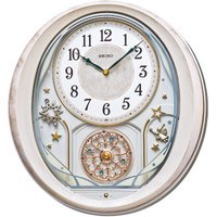 Seiko Melody in Motion Wall Clock with Pink Marble Case