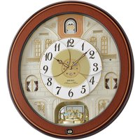 Seiko Melody in Motion Wall Clock with Piano Finish Wooden Case
