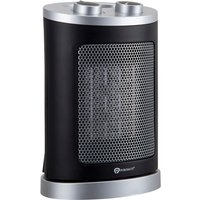 Puremate 1500w Mini Ceramic Fan Heater - Black/Silver