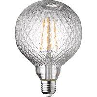 Wofi LED Lamp Bulb Transparent E27 4W 300 Lumen 1800 Kelvin 9762 - 2 Pack