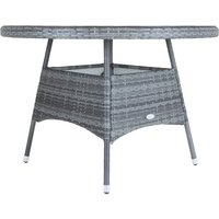 Charles Bentley 6 Person Rattan Dining Table - Grey