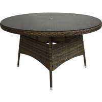 Charles Bentley 6 Person Rattan Dining Table - Natural