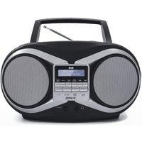 Groov-e DAB Boombox Portable CD Player with DAB/FM Radio - Black GVPS753/BK